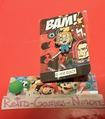 BAM! BOX Exclusive SEALED Chucky Child's Play pin! -Butch-O-Vision! Sealed!