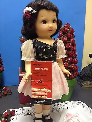 "Wow Ideal Betsy McCall 14"" Ideal Doll  All Original Outfit, Curler Tag, 1952-53"