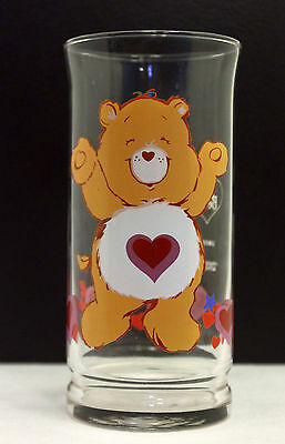 1983 Care Bears Tenderheart Bear Pizza Hut Collector Glass - Excellent Condition