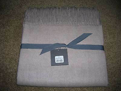 Restoration Hardware 100% CASHMERE THROW OATMEAL COLOR 50x70 NEW w/TAGS