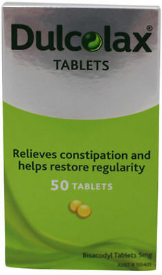 DULCOLAX 50 (bisacodyl) TABLETS, CONSTIPATION RELIEF