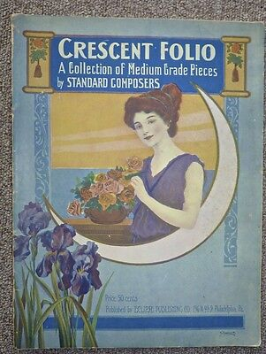 Crescent Folio of Musical Pieces Standard Composers 1908 Edition