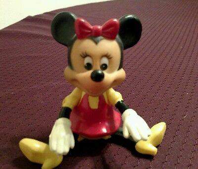 """Vintage Minnie Mouse 1970's  6"""" Jointed Rubber/ Plastic Figure"""