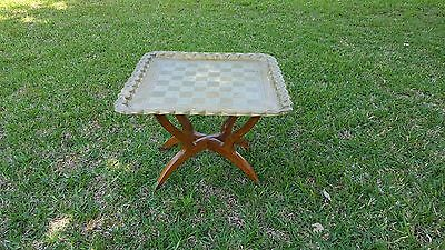 VTG Brass Spider Leg Table Middle Eastern Mid Century Modern Side End Tray Table