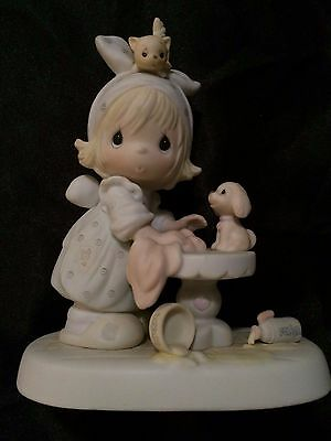 Precious Moments *Animal Bath* Collectible, Decorative Figurines, Porcelain