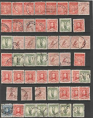 a sheet of 52 king george era issues mostly all in very fine condition light can
