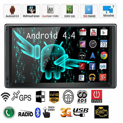 "Android 4.4 7"" 2Din In Dash GPS Car Monitor Autoradio Video Stereo GPS+WiFi 3G"