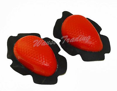 Motorcycle Bike Racing Body Armour Protection Knee Pucks Sliders Pads Red DD-02R