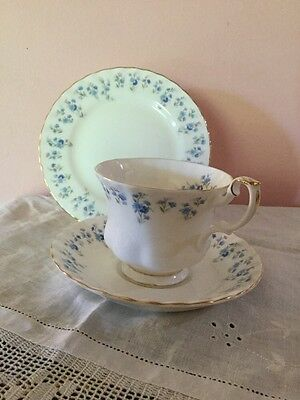 Royal Albert Memory Lane Cup, Saucer & Plate Made In England As New