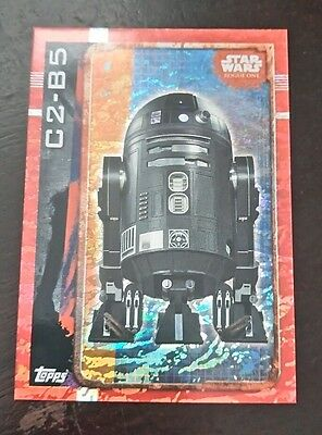 Star Wars - Rogue One C2-B5 (TOPPS collector cards) Rainbow Foil Insert