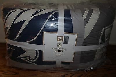 NWT Pottery Barn Teen New NHL Patchwork FQ quilt full queen