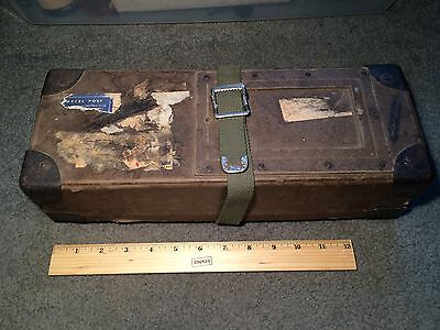 Vintage U.S. Military Shipping Box Made of Fiberboard with Metal Corners!