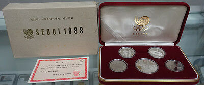 Korea 1987 (1988) Seoul Olympic Olympiad 2nd Edition Series Silver Coins SET