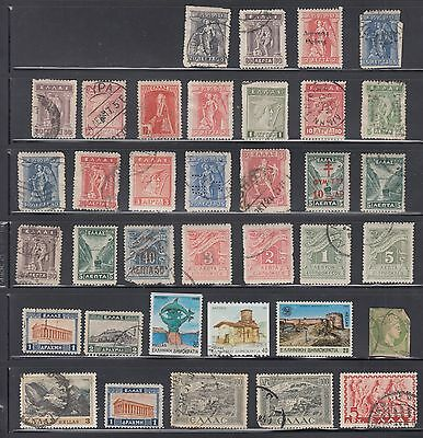 """£1.49 start -  A small collection of """"GREECE"""" issues - MINT, OPTD & USED"""