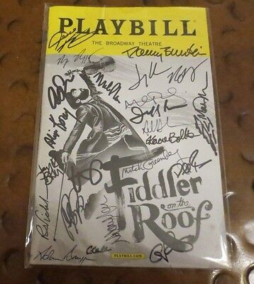 Fiddler on the Roof  Broadway Play Playbill current cast signed autographed