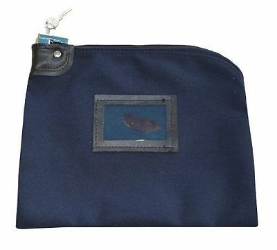 Security Locking Safety Bag Key Cash Bank Document Waterproof Canvas Navy Blue