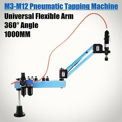 Pneumatic Air Tapping Drilling Machine M3-M12 Universal Tapper Tool Flexible Arm