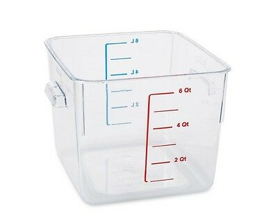 Clear Square Container Rubbermaid Commercial Products 6 Qt. Space Saving Baking