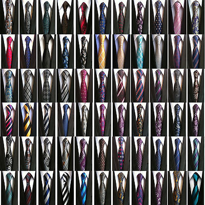 Classic Men's 100% Silk Tie Necktie Striped Paisley JACQUARD Business Neck Ties