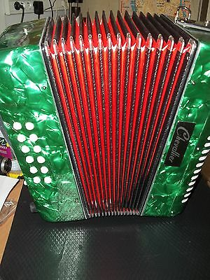 Accordeon D'etude Diatonique Chevallier 12 Basses Vert - Neuf - Garantie 1 An