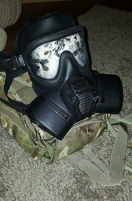 british army gsr respirator with filters and bag