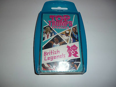 British Olympic Legends Top Trumps trading card set