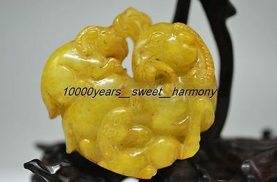Unique Natural Old Jade Carved Sheep Statue G7