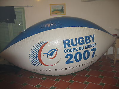 Ballon rugby 3 metres helium ou air coupe du monde 2007 world cup large balloon