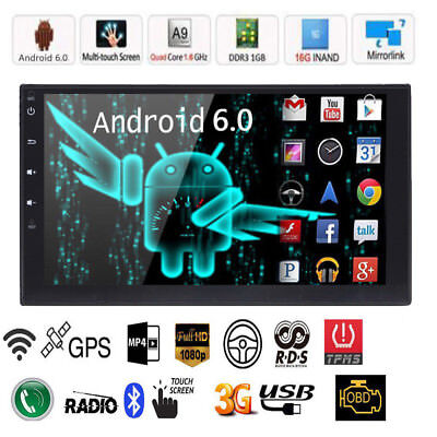 "Quad Core Android 5.1 3G WIFI 7""Double 2DIN Car Radio Stereo Autoradio GPS Navi"
