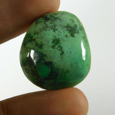37Cts Fantastic 100% Natural Tibten Turquoise 26X22 Cabochon