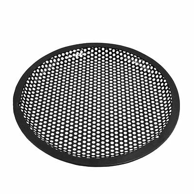 Universal 8 Inch Subwoofer Speaker Black Metal Waffle Cover Guard Grill F5C 13HE