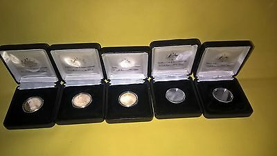 2014-2015- 2016 100 Years of ANZAC One Dollar $1 UNCIRCULATED coins in RAM boxes