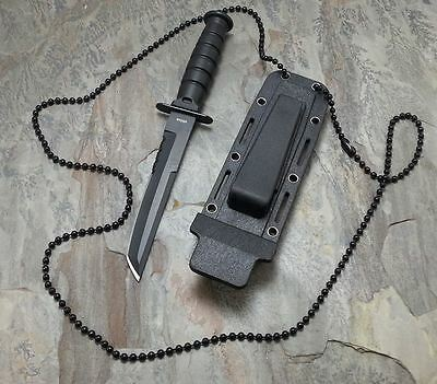 """6"""" Tactical Black Fixed Blade Military Combat Hunting Survival Knife w/ Sheath"""
