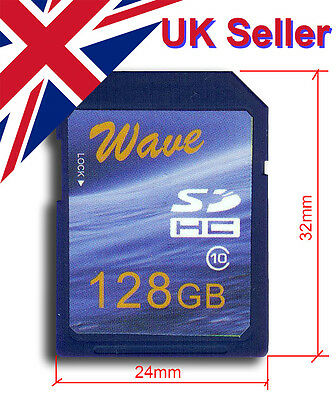 Big Old Size Full Capacity Wave 128GB SD Card (32x24mm)