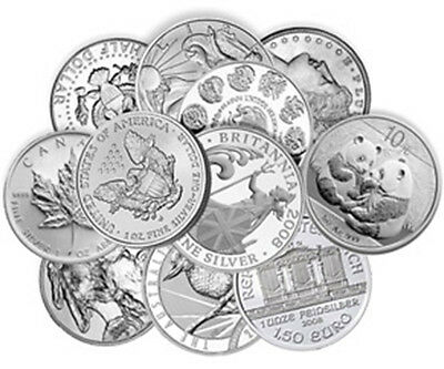 Low Premium 1oz Silver Bullion Bars or Coins – Random Products