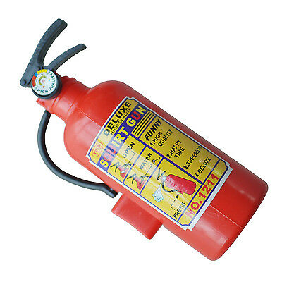 Children Red Plastic Fire Extinguisher Shaped Squirt Water Gun Toy K8U9 13HE