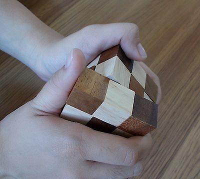 Wooden Toy Game Snake Cube Twist Puzzle Magic Wood Toys