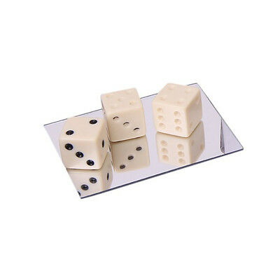 Mirror Dice Illusion Trick Game Magic Props G2M8 13HE