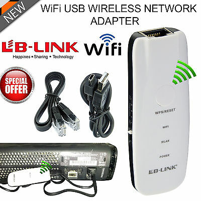 USB WIFI Wireless NETWORK ADAPTER for PS3 & XBOX 360 LIVE UK STOCK NEW