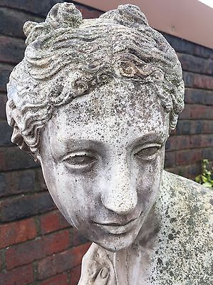 Large Garden Stone Statue Of A Roman Lady - Over 5 Foot Tall.