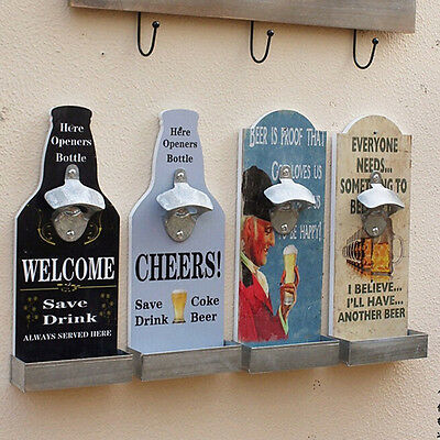 Wall Mounted Beer Bottle Opener Beer Cap Catcher Bar Decoration 2016 New