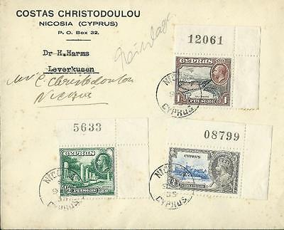 Cyprus 1934 and 1935 part sets on 3 Covers