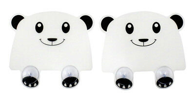 JustNile Adorable Plastic Panda Sink Splash Guard with Suction Cups, Set of 2