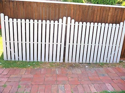Picket Double Gates With Steel Frame,hinges And Latch