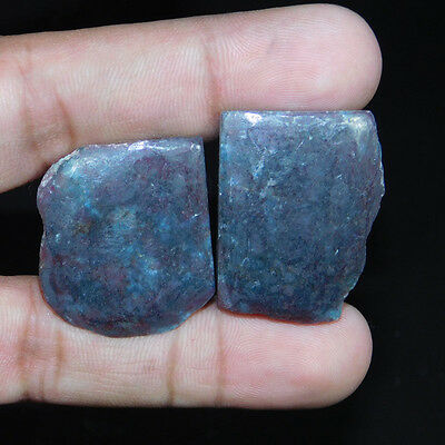 104.3Cts DESIGNER INDIAN ODISSA RUBY PAIR MIX SIZE SLAB SLICE LAPIDARY