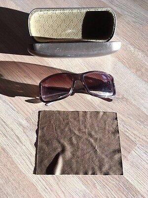 Gucci Brown Sunglasses With Case Ladies