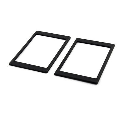 Laptop 7mm to 9.5mm SSD HDD Hard Disk Drive Thickening Pad Frame Black 2pcs