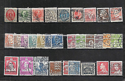 Lot de timbres du Danemark