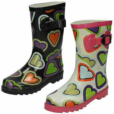 Wholesale Girls Wellington Boots 16 Pairs Sizes 10-3  HEART