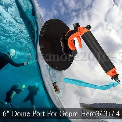 Underwater Diving Floating Dome Port Lens Cover Shell For Gopro Hero 4 3+ Camera